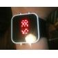 Reloj Pulsera Unisex Deportivo con Correa de Silicona y Pantalla LED Cuadrada - Negro