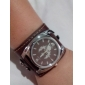 Unisex PU Analog Quartz Wrist Watch (Brown)