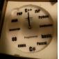 "6.9""H Programming Language Pattern Analog Wall Clock (White, 1xAA)"