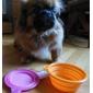 개 고양이를위한 foldable 및 휴대용 실리콘 애완 동물 그릇 (여러 색)