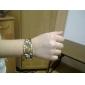 Analog kvartsarmbåndsur i smykkestil (bronse)