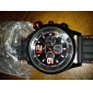 V6® Men's Watch Sports Rubber Black Blue Band Cool Watch Unique Watch