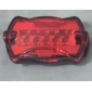 Bicycle Bike 7-Mode 5-LED Red Light Tail Warning Safety Light (2xAAA)