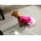 Punkt-Muster Mesh-Spleißen Kleider für Hunde (XS-L)