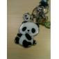 Um par bonito Panda Keychain Black & White