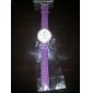 rodada zircão branco marcação de quartzo relógio de pulso analógico feminino (cores sortidas)