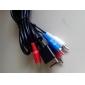 av cabo de vídeo componente de áudio para ps2 (1,8 metros)