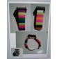 Unisex Touch Screen LCD Digital Multi-Functional Colorful Plastic Band Wrist Watch