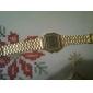 남성 손목 시계 디지털 시계 LCD 달력 크로노그래프 경보 디지털 합금 밴드 골드