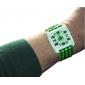 Montre à Quartz, Bracelet en PU, Style Treillis - Vert