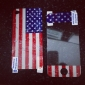 Full Body American Flag Pattern Screen Protector for iPhone 4 and 4S (Multi-Color)