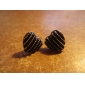 OLL Retro Stripe Heart Earrings