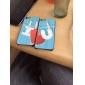 Custodia in plastica con disegno I Love U per iPhone 5/5S (set di 2)