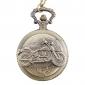 hombres aleación bicicleta de cuarzo analógico reloj de bolsillo (bronce)