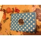 Round Dot 360 Degree Rotating Stand Cover PU Leather Case for iPad mini (Assorted Colors)
