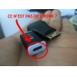MHL-HDMI adapteri Samsung S3/I9300/N7100 (musta)