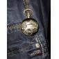 Men's Car Alloy Analog Quartz Pocket Watch (Bronze)