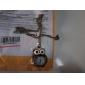 Unisex Owl Style Alloy Analog Quartz Keychain Necklace Watch (Bronze)