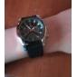 style de course cadran noir de la montre-bracelet la bande de silicone de quartz des hommes