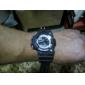 analogique des hommes - numérique multi-fonctionnel en caoutchouc noir bande lcd montre-bracelet
