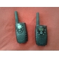 Premium 22-Channel GMRS FRS Walkie Talkie (5KM range, 2-Pack, Black)