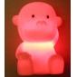 Cute Monkey Shaped Colorful LED Night Light (3xLR44)