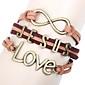 eruner®jesus люблю коричневый кожаный браслет