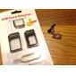 3-en-1 adaptador de tarjeta SIM y la punta para extracción de iPhone 5, iPhone4 y (colores surtidos) 4S