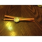 Women's Long PU Leather Style Band Analog Quartz Bracelet Watch (Assorted Colors)