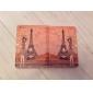 pige og Eiffel Tower mønster pu læderetui m / står for iPad Mini 3, iPad Mini 2, iPad Mini