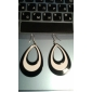 Black And White Water Alloy Earrings