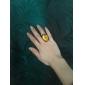 Amarillo de la aleación del anillo de la gema patrón de la vendimia