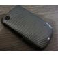Grid Pattern Back Case and Bumper Frame for Blackberry 8520/9300 (Black)