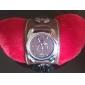 Unisex PU Analog Quartz Wrist Watch (Brown)