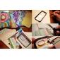 Unique klart bag cover med farverig ramme til iPhone 4/4S