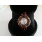 Women's Wood Analog Quartz Bracelet Watch (Brown)