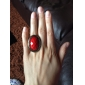 Retro Oval Shape Alloy Resin Studded Ring