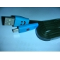 Copy To High quality Hot Flat LED Light Smile Face Micro USB Data Sync Charger Cable For Samsung HTC