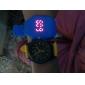 남여의 실리콘 아날로그 석영 손목 시계 (노란색)