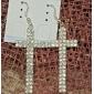 Sacred Cross Rhinestone Fully-Jewelled Earring