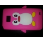 Penguin Design Soft Case for Samsung Galaxy S2 I9100 (Assorted Colors)