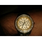 Men's Watch Dress Watch Diamond Case Gold Steel Band