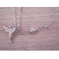 Lureme®Crystals Angel Wing Pendant Necklace