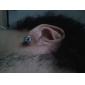 Blue Zircon Stainless Steel Earrings