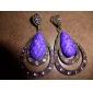 særlige vand-drop stil retro øreringe til kvinder (lilla)