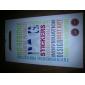 Scrawl Design Foran og bak Screen Protector Film for iPhone 4/4S