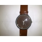 Women's Coffee Dial PU Band Quartz Wrist Watch