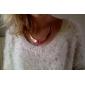 dobrável de ouro banhado em forma de crescente liga colar (cores sortidas)