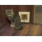 4 Way Lockable Cat Small Dog Screen Flap Door for Doors and Windows (15 x 15cm)