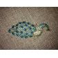 broche azul pavo real de las mujeres